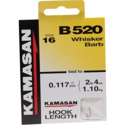 Kamasan B520 Whisker Barbed Hooks - All Sizes