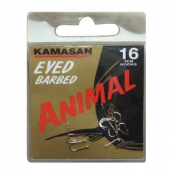 Kamasan Animal Eyed Barbed Hooks - All Sizes