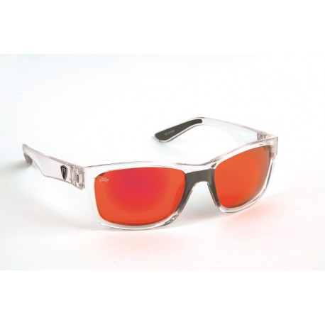 Fox Rage Clear Frame / Mirror Red Lens Polarised Sunglasses - Mill ...