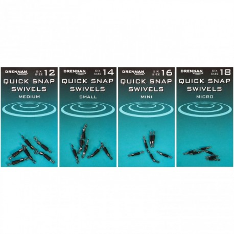 Drennan Quick Snap Swivels - All Sizes