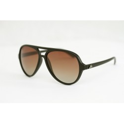 "Fortis ""Aviator"" Polarised Sunglasses - Matte Black Frame / Brown Lens"