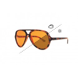 "Fortis ""Aviator"" Polarised Sunglasses - Tortoise Shell Frame / Switch Lens"