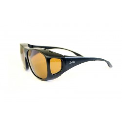 """Fortis """"Overwraps"""" Polarised Sunglasses - Matte Black Frame / AMPM Amber Lens"""