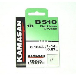 Kamasan B510 Barbless Crystal Hooks To Nylon - All Sizes