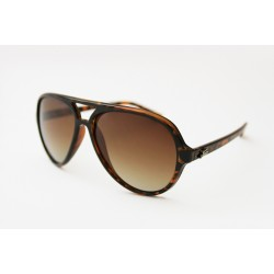 "Fortis ""Aviator"" Polarised Sunglasses - Tortoise Shell Frame / Graduated Brown Lens"