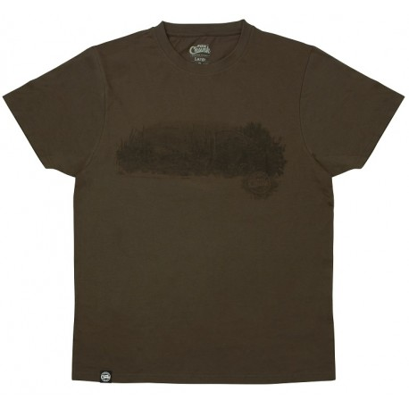 "Fox CHUNK Dark Khaki ""Scenic"" T Shirts - All Sizes"