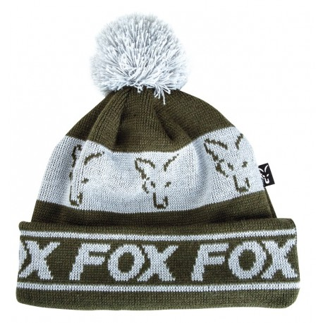 Fox Green & Silver Collection Bobble Hat