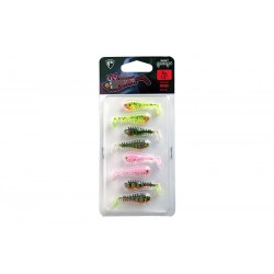 Fox Rage 4cm UV Micro Spikey Lures - Mixed Packs