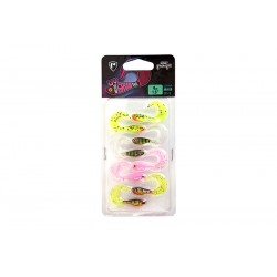 Fox Rage 4cm UV Micro Grub Tail Lures - Mixed Packs