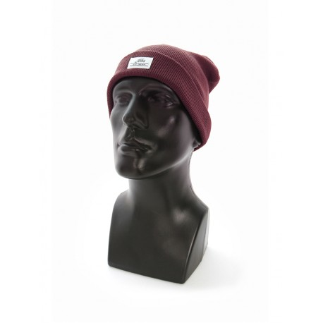 Fortis Maroon Fold Beanie Hat
