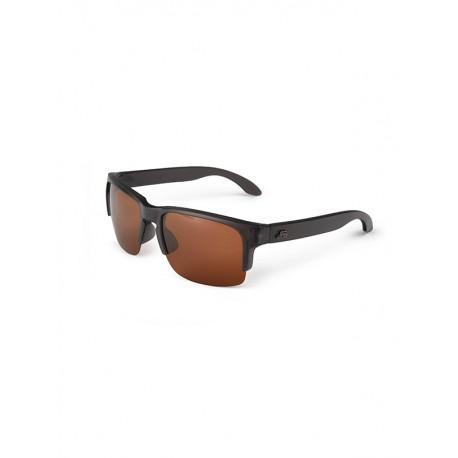 "Fortis ""Bays Lite"" Polarised Sunglasses - Matte Black Frame / Brown 24-7 Lens"