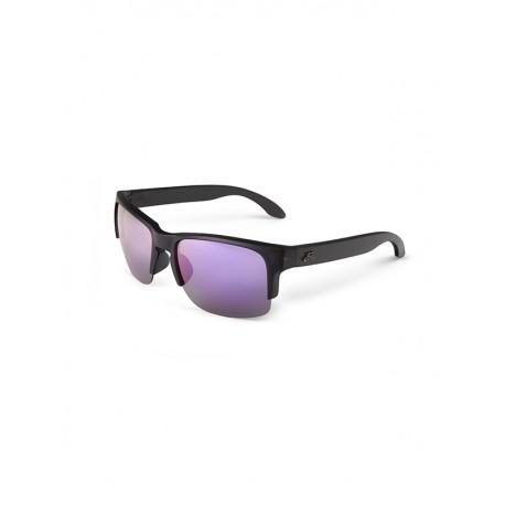 "Fortis ""Bays Lite"" Polarised Sunglasses - Matte Black Frame / Purple X-Blok Lens"