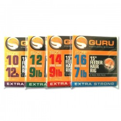 "Guru 15"" Feeder Hair Rigs - All Sizes"