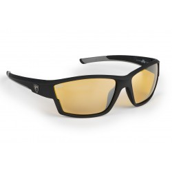 "Fox Rage ""Wraps"" Matt Black Frame / Amber Lens Polarised Sunglasses"